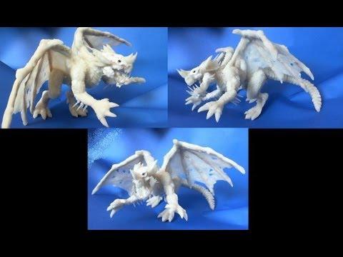 Como hacer un Dragon Azul D&D con ceramica en frio