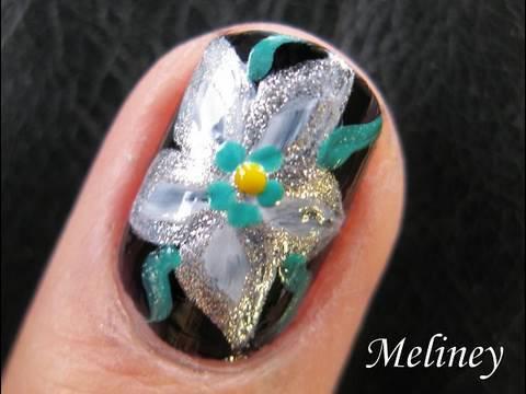 Flower Nail Art Tutorial For Short Nails