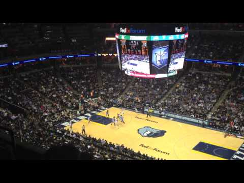 Denver Nuggets vs. Memphis Grizzlies: James Johnson's Fancy Layup (December 28, 2013)