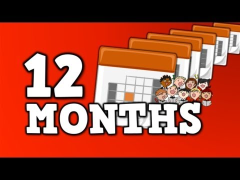 12 MONTHS!  (song for kids about 12 months in a year)