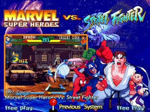 Marvel Super Heroes vs. Street Fighter (Arcade) - Full Game