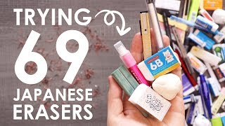 Trying 69 Japanese Erasers - STRANGE BUT BETTER?!