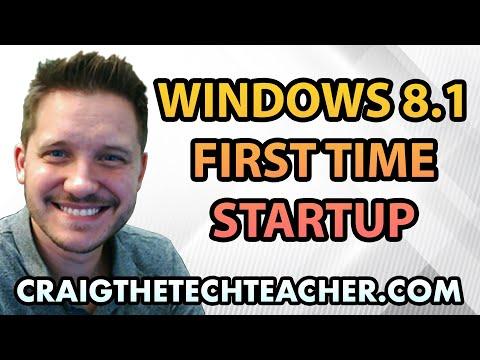 Windows 8.1 First Time Setup