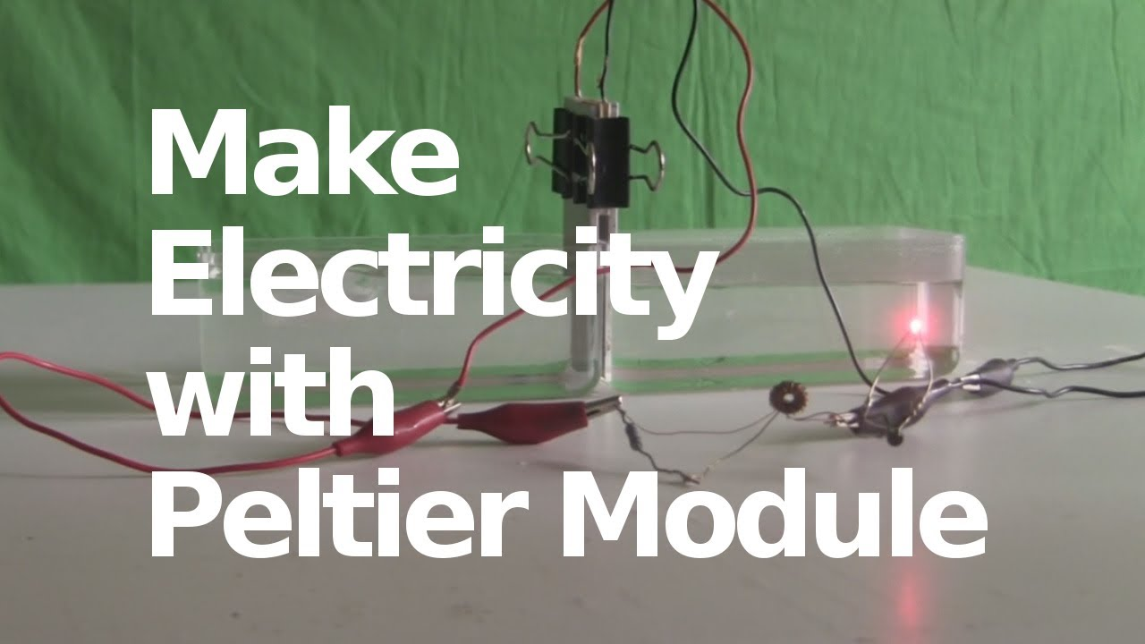 Generate Electricity With Peltier Module The Seebeck