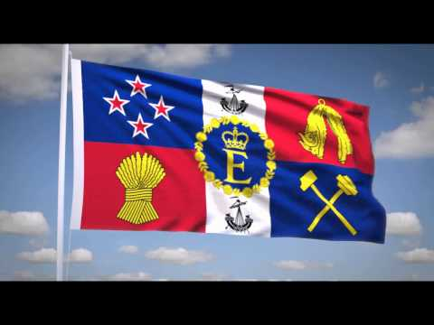 National Anthem of New Zealand (God Defend New Zealand) Royal flag of New Zealand