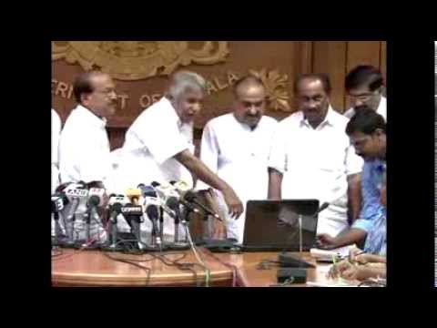 Global tender for Vizhinjam Port - Oommen Chandy uploading the documents to Port website