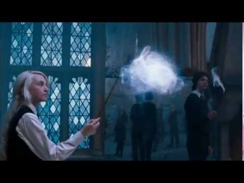 Dumbledore's Army practices the Patronus Charm.,