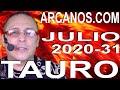 Video Horóscopo Semanal TAURO  del 26 Julio al 1 Agosto 2020 (Semana 2020-31) (Lectura del Tarot)