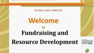 Fundraising and Resource Development