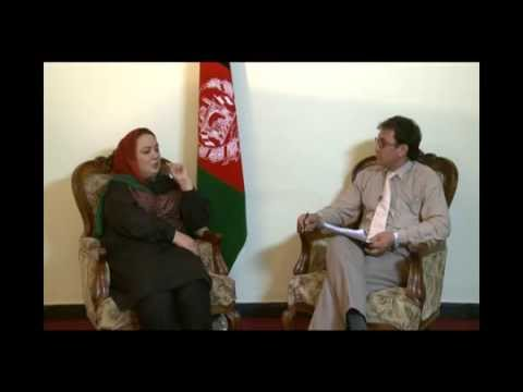Political agenda of Parliament with Ms. Shukriya Barakzai  (AREZU TV Kabul) 2013