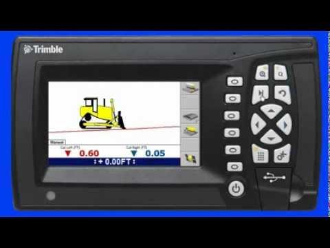 Trimble GCS900 Grade Control System Lane Guidance