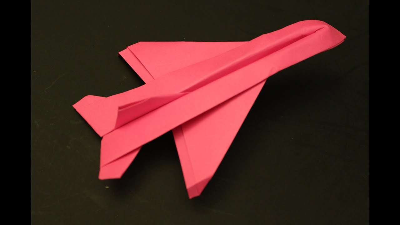 how to make a cool paper plane youtube