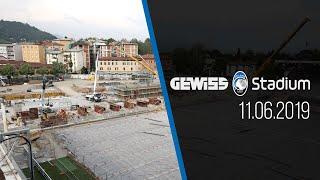 Il progress in time lapse dei lavori allo stadio di Bergamo all'11 giugno