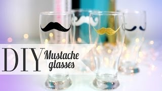 Ann Le {Anneorshine} – DIY Cute Mustache Drinking Glass – His & Her Gift Ideas