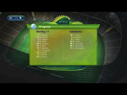 2014 FIFA World Cup Brazil - Uruguay vs Colombia - [Online World Cup Gameplay]