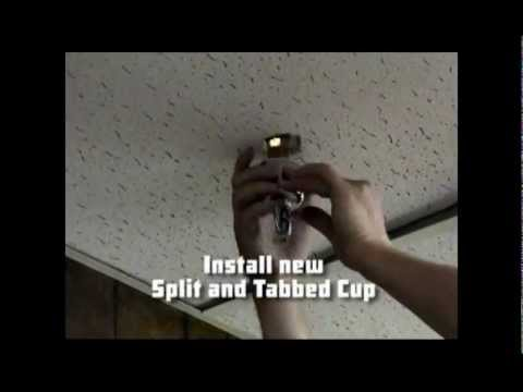 How To Replace Fire Sprinkler Escutcheons Youtube