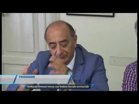 TG TELEREGIONE Sindacati firmano intesa con Ambito Sociale territoriale