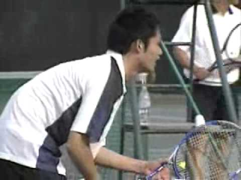 20051113 杉村太蔵議員小池大臣とテニスを楽しむ
