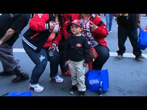 Mini Jim Harbaugh at San Francisco 49ers Draft Party May 2014