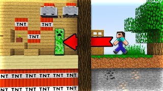TOP 10 Bẫy TROLL Noob Bằng TNT Trong Minecraft!!