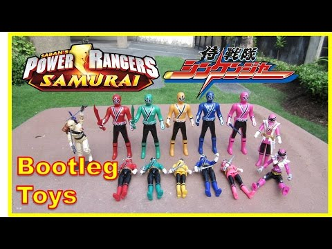 Power Rangers Samurai / Super Sentai Shinkenger 侍戦隊シンケンジャ - Bootleg toy review (Raw video)