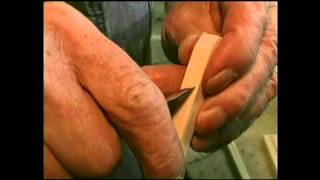 Wooden pliers made from just 10 cuts into a single stick of wood.