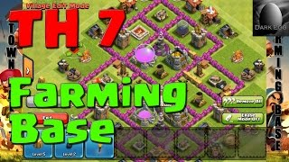 Clash Of Clans: Town Hall 7 Farming Base (v 5.6)