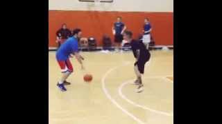 Justin Bieber Trips Over While Playing Basketball With