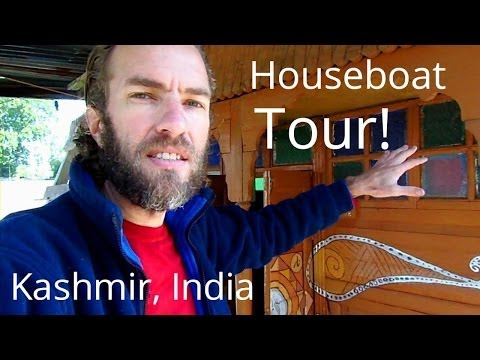 Tour of a cool houseboat in Srinigar, Kashmir