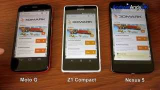 Moto G Vs Z1 Compact Vs Nexus 5 (GPS, Speaker, Browser