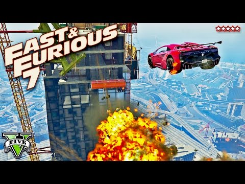 GTA 5 EPIC FURIOUS 7 Building Jump Stunt Race!! FAST & FURIOUS Extreme Racing (GTA 5 Funny Moments)