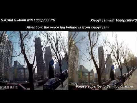 Xiaomi Yi vs SJ4000 wifi 1080p/30fps