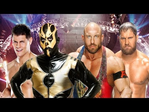 en Espa�ol Elimination Chamber 2014 Kickoff - Cody Rhodes & Goldust vs. Ryback & Curtis Axel