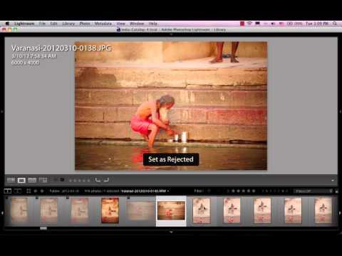 Học Lightroom 4 - 013 Chọn ảnh, đánh dấu ảnh và xoá ảnh