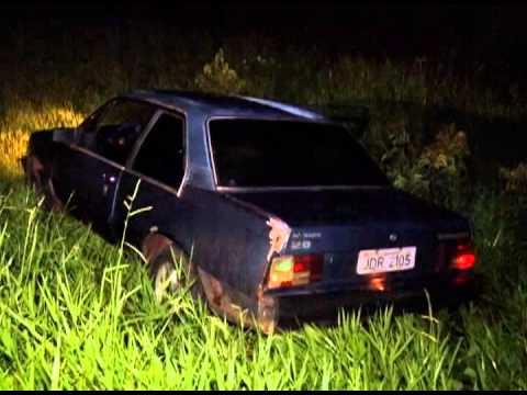 Bandidos abandonam veículo durante perseguição policial