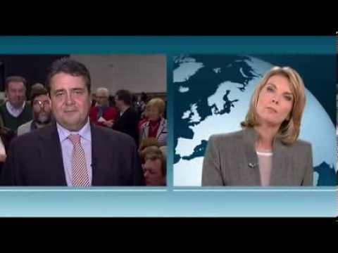 SPD Sigmar Gabriel fetzt sich mit Marietta Slomka Heute Journal 28 11 2013