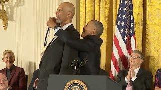 Kareem Abdul-Jabar Awarded Medal Of Freedom