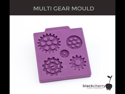 Black Cherry Cake Company STEAMPUNK MULTI GEAR silicone sugarcraft mould