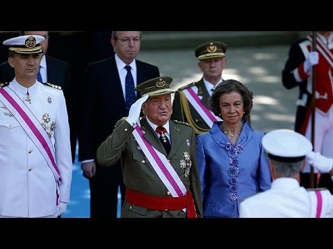 King Juan Carlos makes final appearance as head of armed forces in Spain