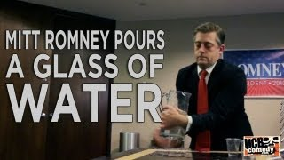 Mitt Romney Pours a Glass of Water