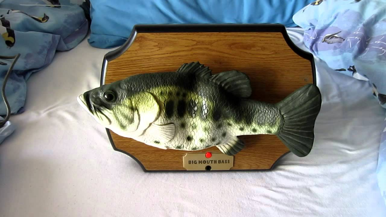 Big mouth bass singing fish fixed youtube for Big mouth fish