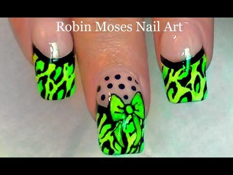 HOT Neon Animal Print Nail Art