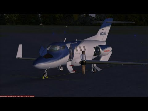 Microsoft FSX - HondaJet HA-420 - From Germany Rügen to Norway Oslo Gardermoen