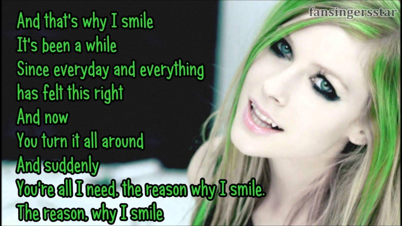 Avril Lavigne - Smile [lyrics] - YouTube Avril Lavigne Lyrics