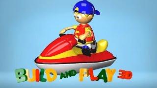 Çizgi Film 3D Yap Oyna (Build And Play) Jet Ski