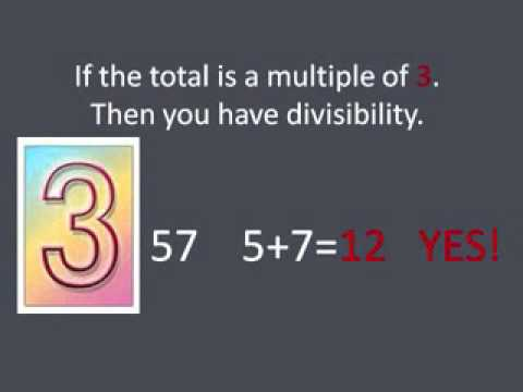 Rules for divisibility NEW