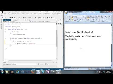 C# Visual Studio 2012 Advanced login Password Protected Tutorial #7