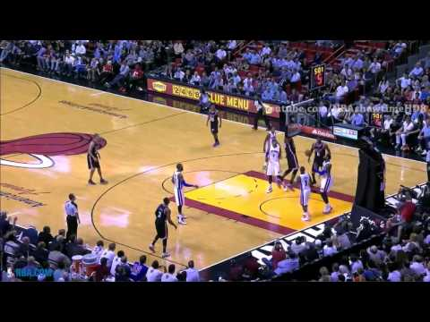LeBron James Sets Up Greg Oden for the Slam | Pistons vs Heat | February 3, 2014 | NBA 2013-2014