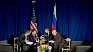 President Obama Meets with Russian President Medvedev in Copenhagen