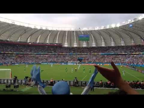 Nigeria-Argentina 2-3 25-06-2014 Coro Live : Brasil, decime qué se siente